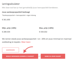 Leningcalculator op de website van Co-libry